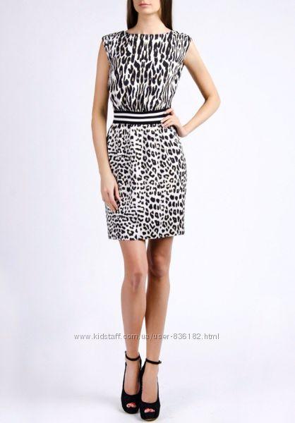 Красивое платье белый леопард Love Republic