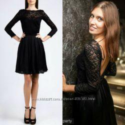 Очень красивое платье Love republic с эффектной спинкой черное синее