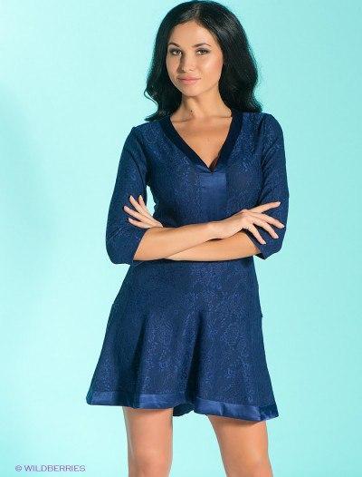Красивое синее  платье Love republic