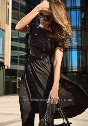 Черное платье love republic  с коротким рукавом