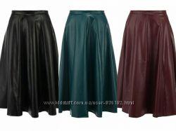 Шикарные кожаные юбки befree длина миди модных цветов