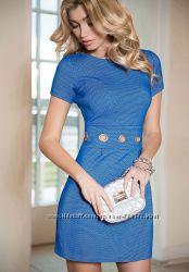 Стильные синие и черные платья love republic с оригинальным декором