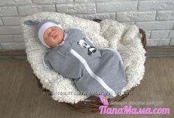 Пеленка-кокон для новорожденного на молнии от 3 до 6 мес
