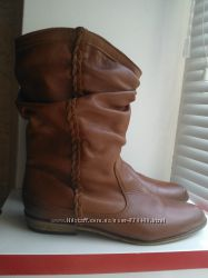 Ботинки полусапоги сапоги Monshoe натуральная кожа демисезон низкий ход