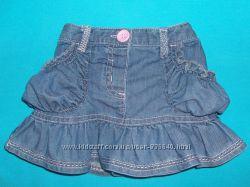 NEXT джинсовая юбка 3-12 месяцев для модницы, состояние новой