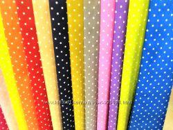 Ткань для штор, скатертей и салфеток горошки, пошив  и дизайн