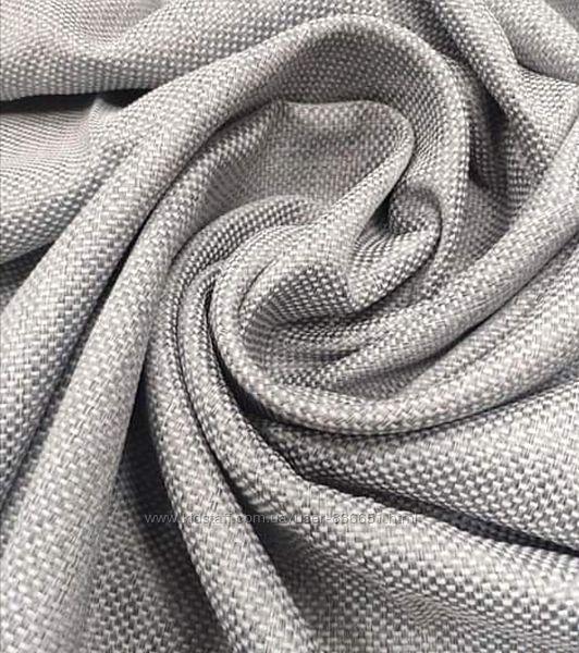 Шторы и римские шторы из ткани меланжевая фактурная рогожка, дизайн и пошив