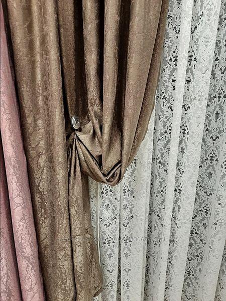 Красивые шторы мраморные кора дуба отрез, дизайн и пошив