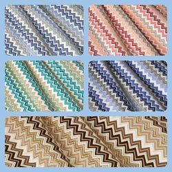 Ткань для штор, римских штор, скатертей и покрывал зигзаги, пошив и дизайн