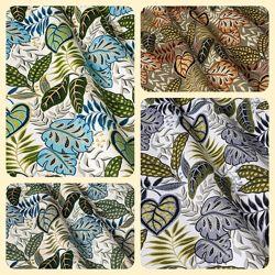 Ткань для штор, римских штор, скатертей и покрывал листья, пошив и дизайн