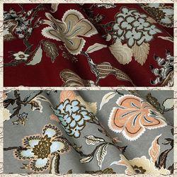 Ткань для штор, римских штор, скатертей и покрывал цветы,  пошив и дизайн