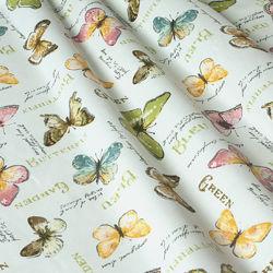 Ткань для штор, римских штор, скатертей и покрывал бабочки, пошив и дизайн