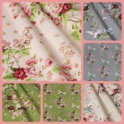 Ткань для штор, римских штор, скатертей и покрывал розочки, пошив и дизайн