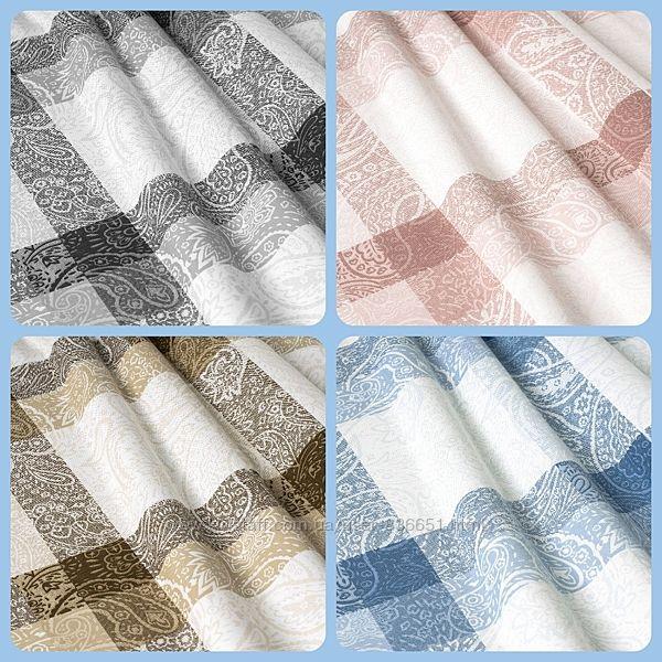 Ткань для штор, римских штор, скатертей и покрывал клетка, пошив и дизайн