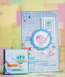 Подарочный набор открытка и коробочка ручной работы