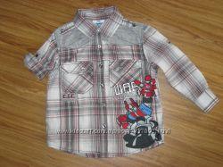 Фирменные рубашки, шведки большой выбор от 3-4 лет.
