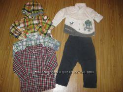Фирменные рубашки, шведки H&M , GEORGE ,  NEXT, M&S от 12-18 мес. Часть 4.