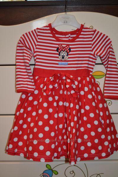 Шикарное, пышное платье на 1-2 года с Минни Маус