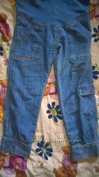 Бриджы для беременных, джинсовые