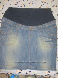 Джинсовая юбка для беременных.
