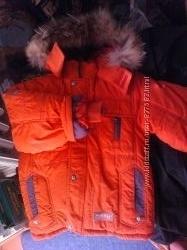 куртка новая зимняя мальчику 5-6лет см. замеры