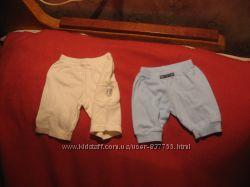 Фирменные трикотажные штанишки. Хлопок. 0-7 мес. Указана длина.