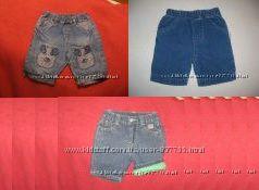Фирменные джинсы и брючки. Хлопок. 0-7 мес.