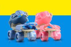 Детские раздвижные 4-колесные ролики Mini Roller 16-21 см