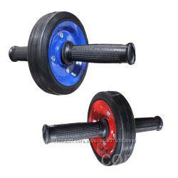 Ролик гимнастический для пресса металлический одно колесо  колесо для прес