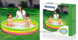 Детский надувной бассейн Радуга Bestway 51103 152х30см, надувное дно