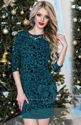 Платье тёмно-зелёного цвета. 42 размер.