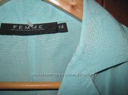 пиджак жакет лёгкий бирюза мята белый