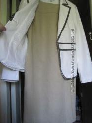 платье в офис натуральная ткань 2 шт