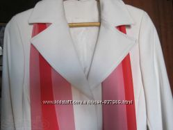 Пальто белое классика плащ кардиган
