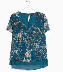 Яркая стильная  блуза   Mango размер  XS