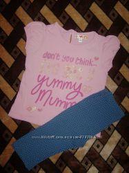 Комплект футболка и капри на 3-4 года