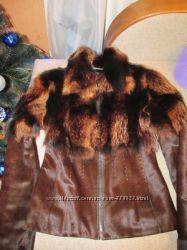 Шикарная куртка с мехом пони и волка