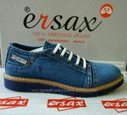 Ersax мужские джинсовые туфли, мокaсины кеды 41, 42, 43, 44, 45 Турция Киев