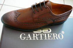 Мужские осенние кожаные туфли Gartiero 41 , 42, 43, 44, 45, 46 р