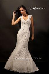 Свадебное платье. Фасон - рыбка, белого цвета р. 44