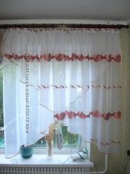 штора занавеска для кухни гардина