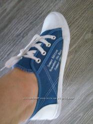 Кеды синие белые новые 38 размер оригинал
