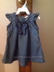 джинсовое платье Benetton baby 68см бу