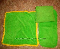 БУ - комплект в коляску  одеяло плед  простынь на резинке  навлочка
