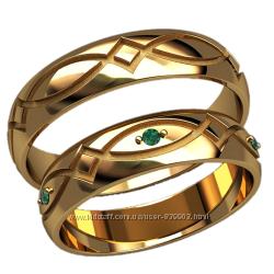 Восхитительные золотые обручальные кольца