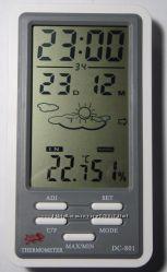 Часы, температура, влажность DC-801