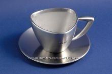 GIPFEL Чашка с блюдцем MONTBLANC с двойными стенками 150 мл нерж. сталь