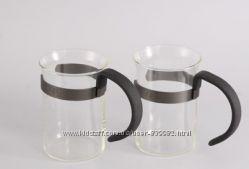 7551 GIPFEL Две стеклянные кружки для кофе GLACIER-LAUSANNE 250 мл