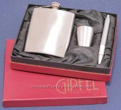 GIPFEL Фляжка  в подарочном наборе 6 пр. с ручкой нерж. сталь