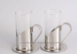 GIPFEL Кружки стеклянные 250 мл GLACIER 2 шт. для латте.